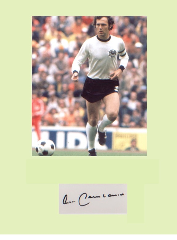 Franz Beckenbauer. Signature mounted with 10x8 pic