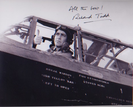 Dam Busters. 10x8 picture of Richard Todd in chara