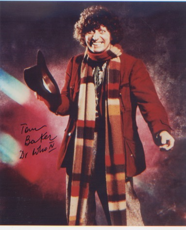 Dr Who. Tom Baker. 10x8 picture in character as Dr