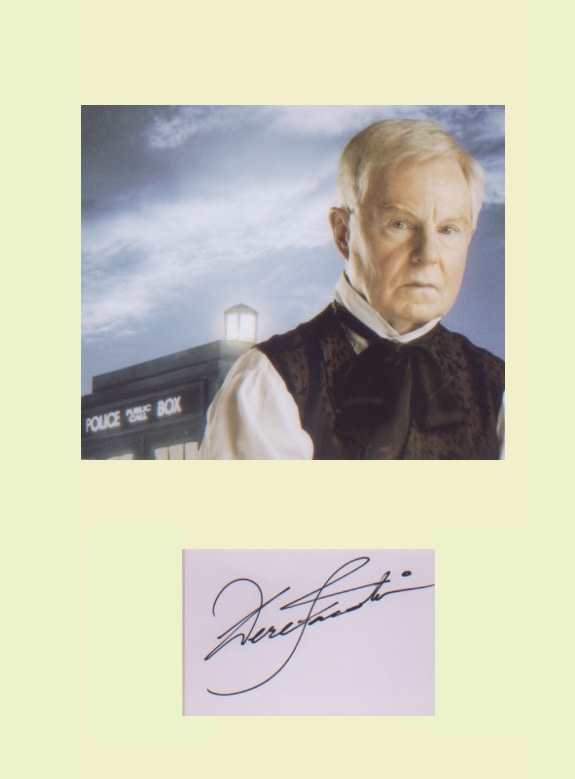 Dr Who. Sir Derek Jacobi. Signature mounted with p