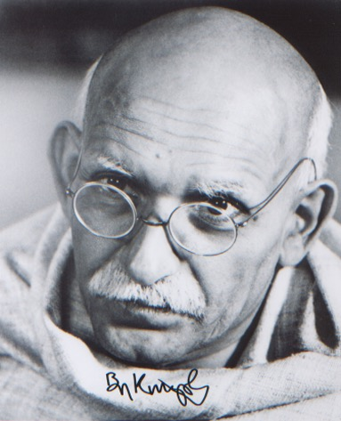 Gandhi. Sir Ben Kingsley. 10x8 picture in characte