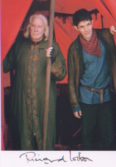 Merlin/Richard Wilson. 7x5 picture in character. E