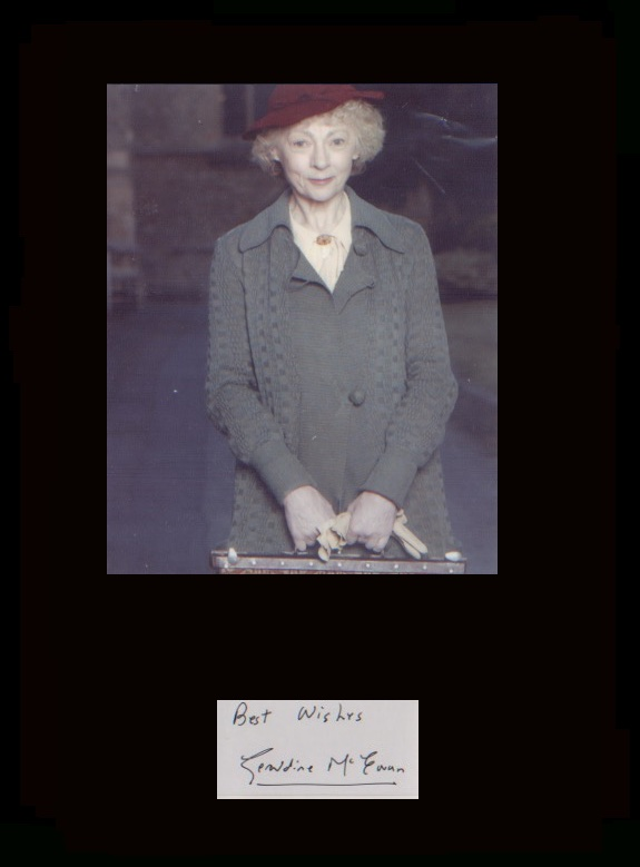 Miss Marple - Geraldine McEwan. Signature of Gera