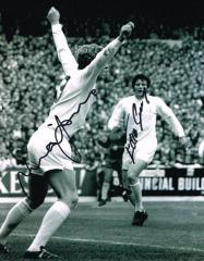 Mick Jones And Eddie Gray Leeds United Signed 10 X