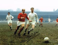 Jack Charlton Leeds United Signed 10 X 8 high qual