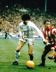 Peter Lorimer Leeds United Signed 10 X 8 high qual