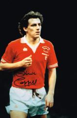 Steve Coppell Manchetser United Signed 12 X 8 high