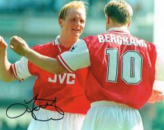 John Hartson Arsenal Fc Signed 10 X 8 high quality