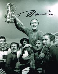 Ron ' Chopper ' Harris Chelsea Signed 10 X 8 high