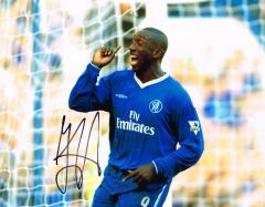 Jimmy Floyd Hasselbaink Chelsea Signed 10 X 8 high