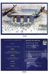 Menu From Last Game At Maine Road Signed By Man Ci