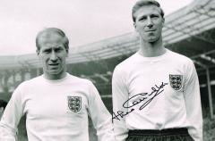 Jack Charlton England Signed 12 X 8 high quality p