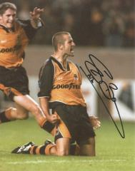 Steve Bull Wolves Signed 10 X 8 high quality photo