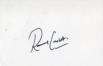 RONNIE CORBETT – 6x4 inch whitecard signed by the