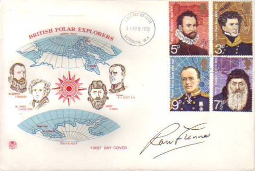 RANULPH FIENNES: British PolarExplorers FDC signed