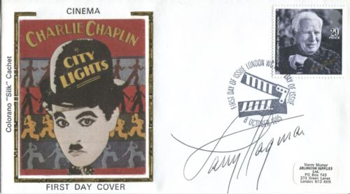 LARRY HAGMAN: Cinema cover withsilk illustration,