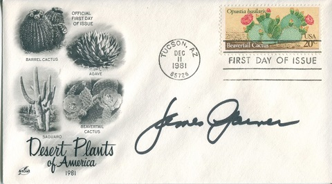 JAMES GARNER: Desert Plants coversigned by the lat