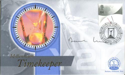 SIGNED BENHAM FDC: BenhamMillennium Timekeeper cov