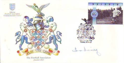 SIR TOM FINNEY: FootballAssociation cover signed b