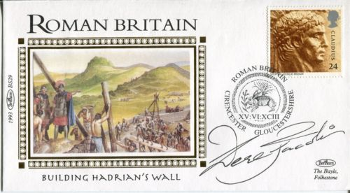 SIR DEREK JACOBI: Benham 1993 RomanBritain cover w