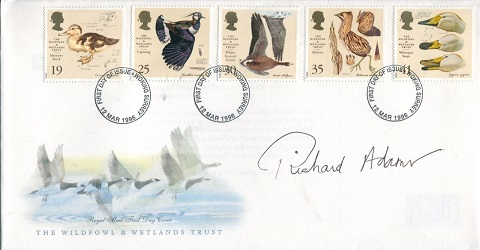 WATERSHIP DOWN: 1996 Wildfowl &Wetlands Trust FDC
