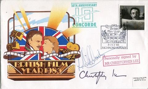 CHRISTOPHER LEE: 1985 British FilmYear commemorati
