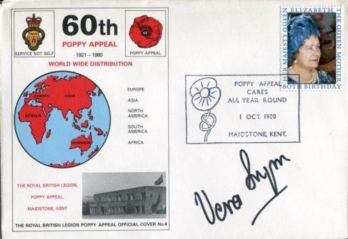 VERA LYNN: British Legion coversigned by Dame Vera