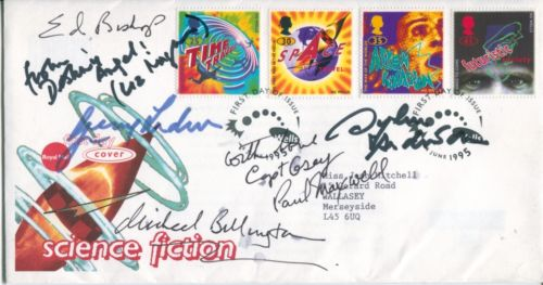 THUNDERBIRDS: 1995 Science FictionFDC signed by se