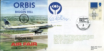 LEO McKERN: RAF Biggin Hill AirFair cover signed b