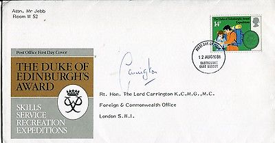 LORD CARRINGTON: Duke of Edinburghawards cover sig