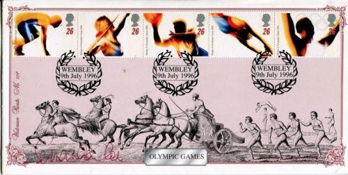 SEB COE: Bradbury 1996 OlympicGames FDC signed by