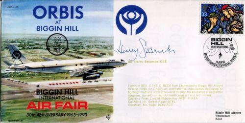 HARRY SECOMBE: 1993 Biggin Hill AirFair cover sign