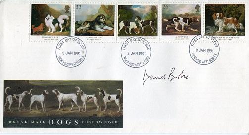 SHERLOCK HOLMES: Dogs FDC signed byactor David Bur