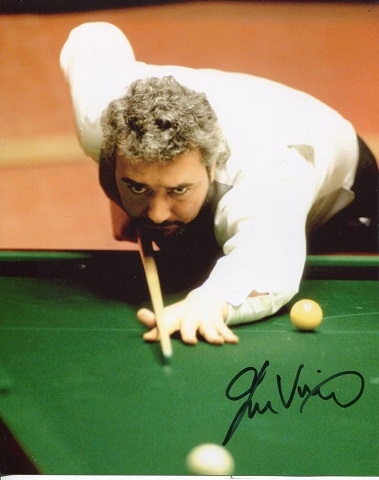 JOHN VIRGO: 8x10 inch photo handsigned by snooker