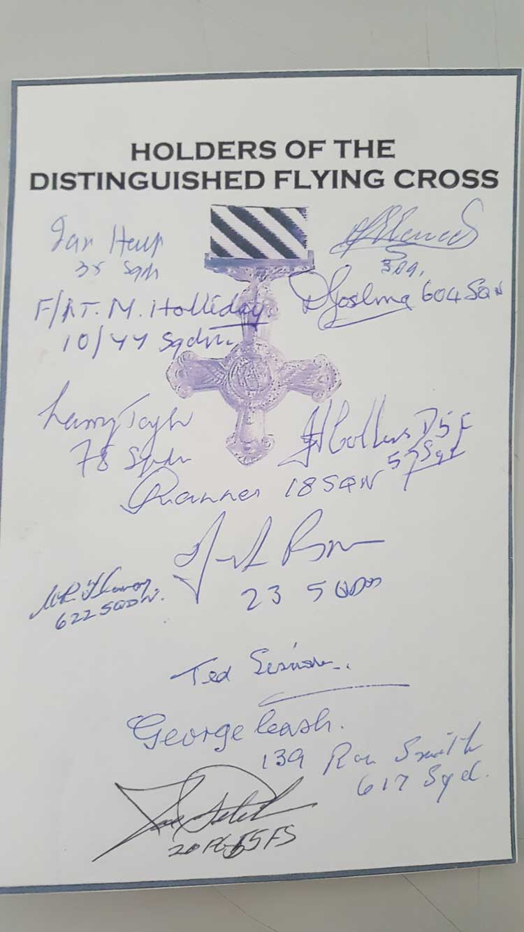 Distinguished Flying Cross holders signed bookplat