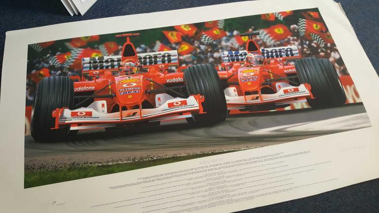 Motor Racing Artist Thierry Thompson signed artist