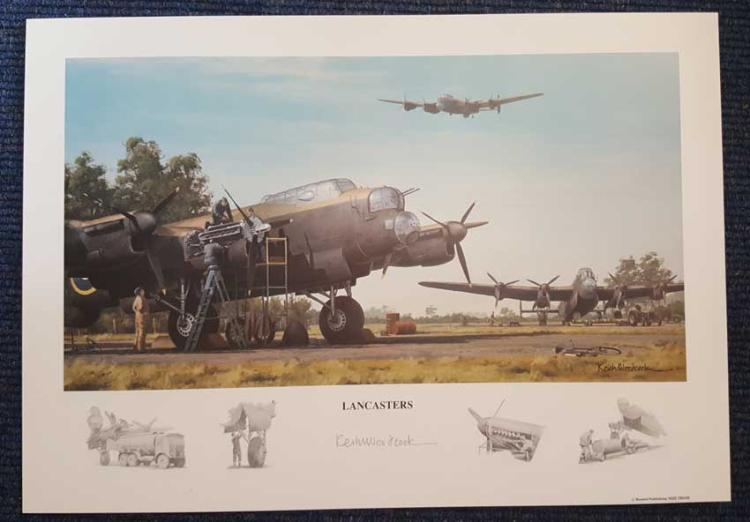 Lancasters artist signed print. High quality 12x16