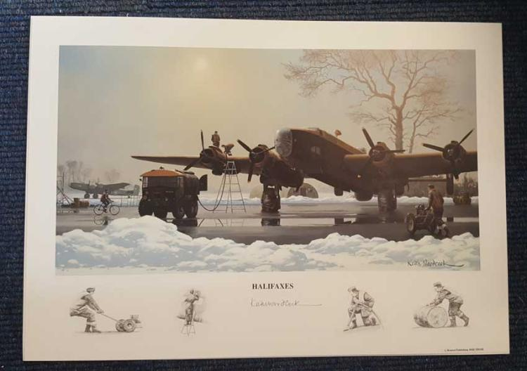 Halifaxes artist signed print. High quality 12x16