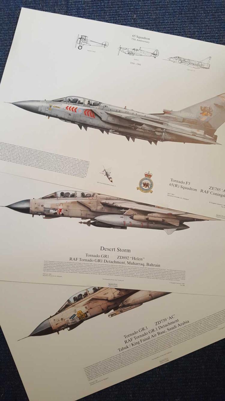 Collection of Three Tornado Prints. Three high qua