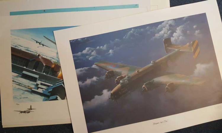 Set of Five Large Aviation Ivan Berryman Prints. F