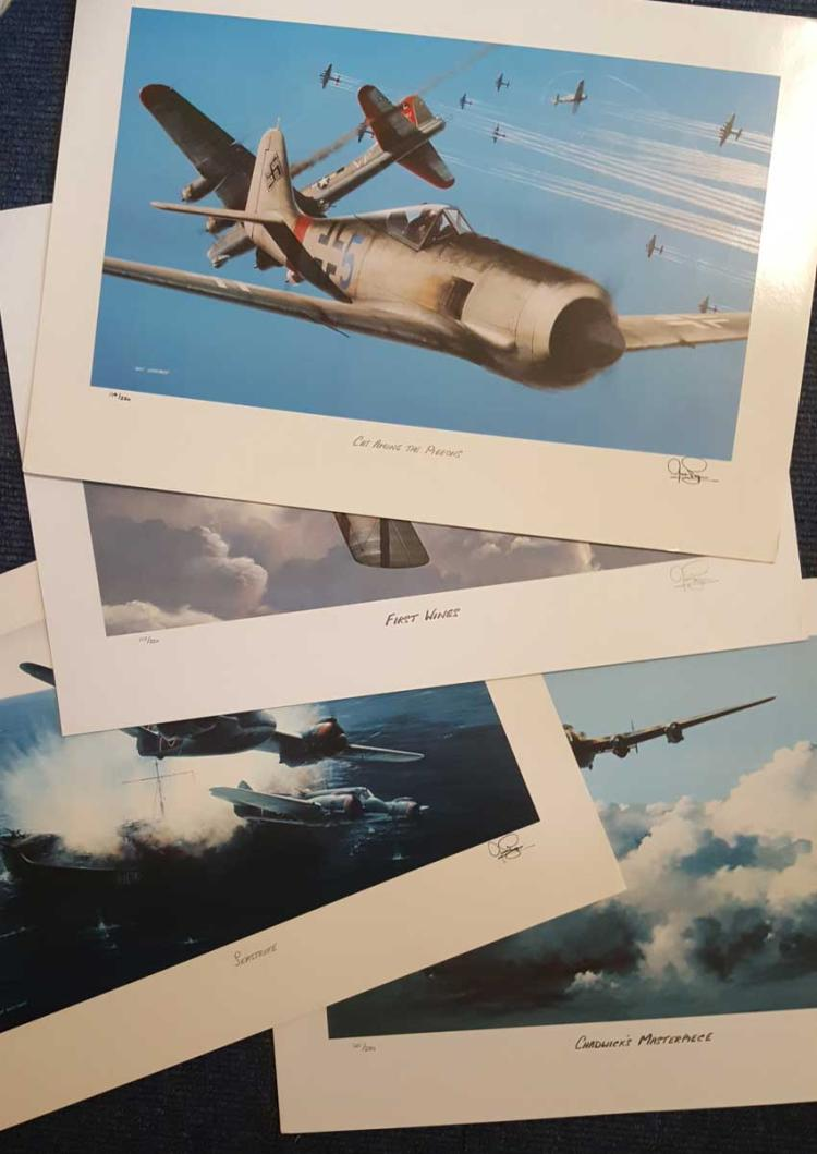 Set of Four Aviation Ivan Berryman Prints. Four pr