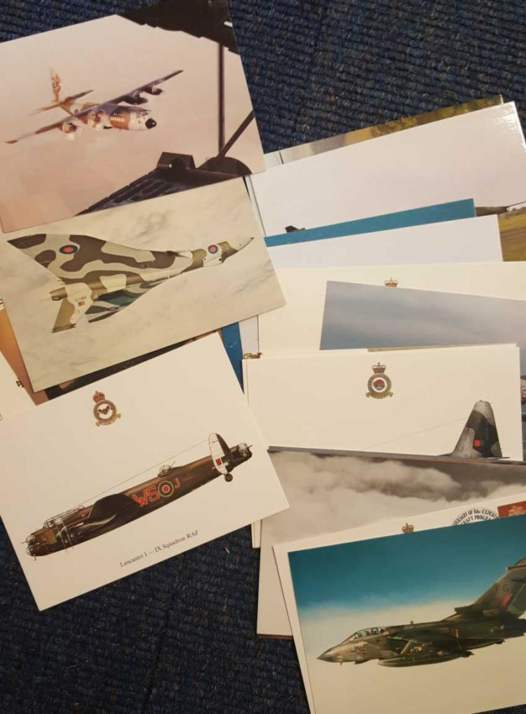 Set of 21 Aviation Postcards. All postally used wi