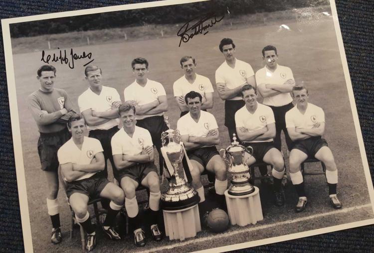 Cliff Jones & Bobby Smith Signed 1961 Tottenham Ho