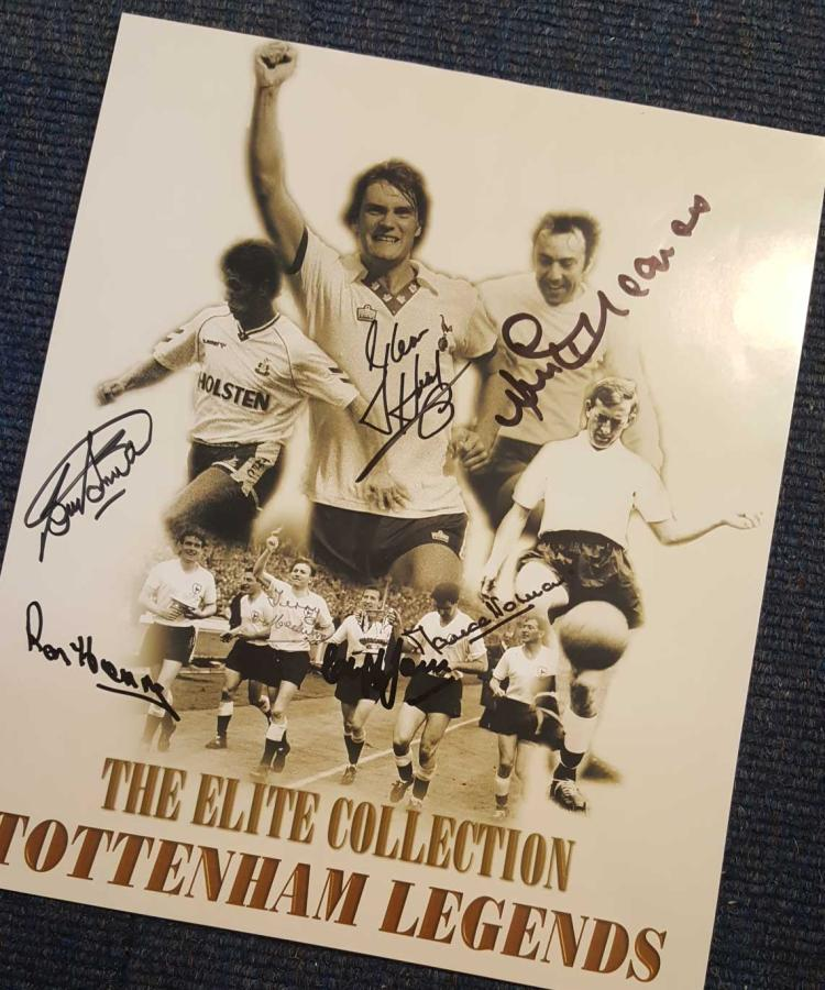Tottenham Legends 12X14 Picture Signed By Bobby Sm