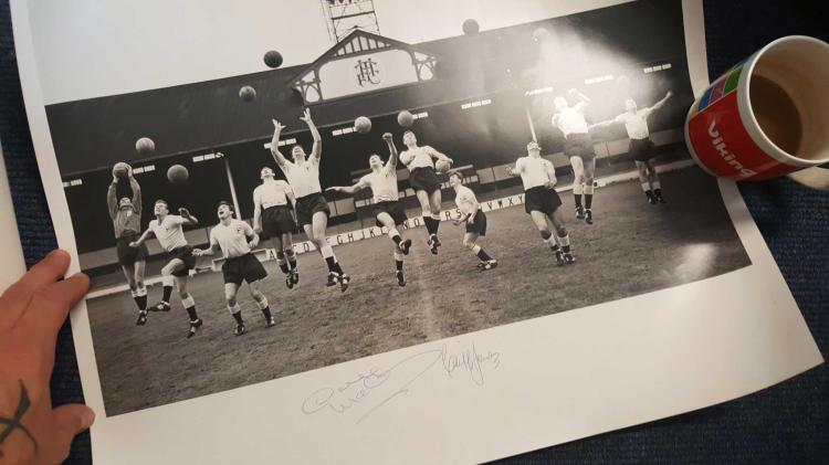 Cliff Jones & Dave Mackay Signed 16X20 Tottenham H