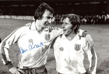 ALAN HUDSON: 8x12 inch B&Wphoto signed by former C