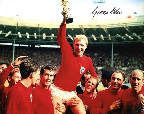 1966 WORLD CUP: 8x10 photo signedby 1966 hero Geor