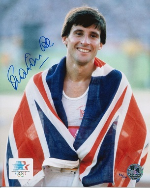 SEB COE: 8x10 inch photo signedby Seb Coe. This is