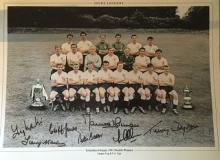 SPURS 1961 DOUBLE WINNERS SQUADSIGNED: 16x12 inch