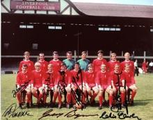 LIVERPOOL SQUAD SIGNED: 8x10 inchphoto signed by L
